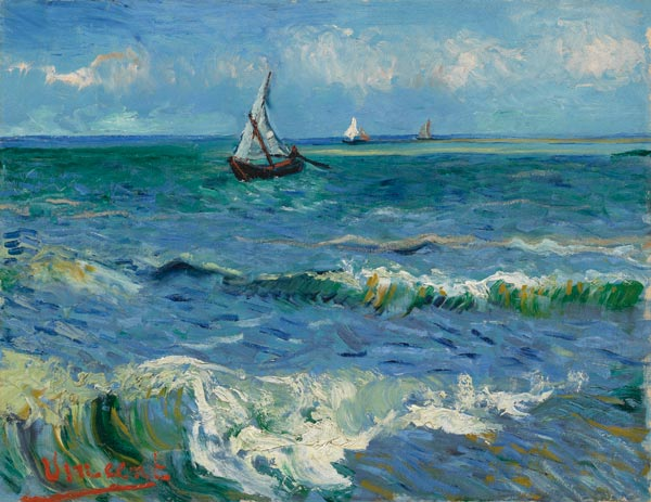 Vincent van Gogh Ocean Waves at Saintes Maries
